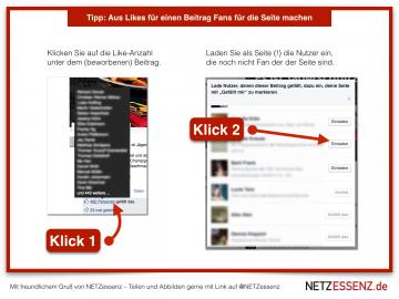 Tipp: Facebook Fans gewinnen mit 2 Klicks