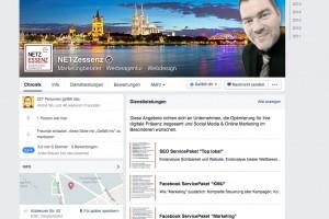 Facebook Seiten Desktop Startansicht Services