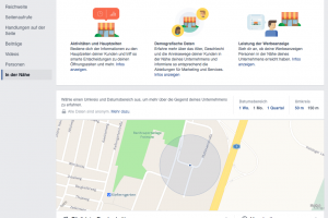 Facebook Personen in der Nähe / Local Insights