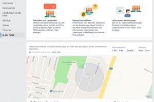 Facebook Personen in der Nähe / Local Insights